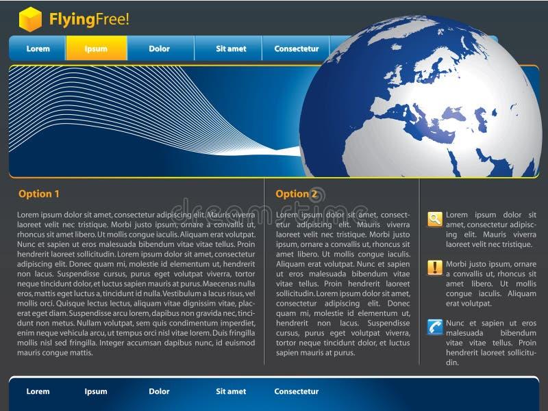Vector Website Design Template Stock Photos