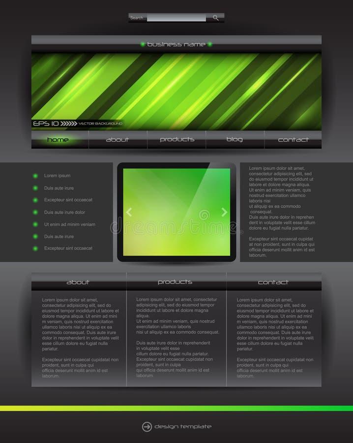 Vector Website Design Template Stock Photography