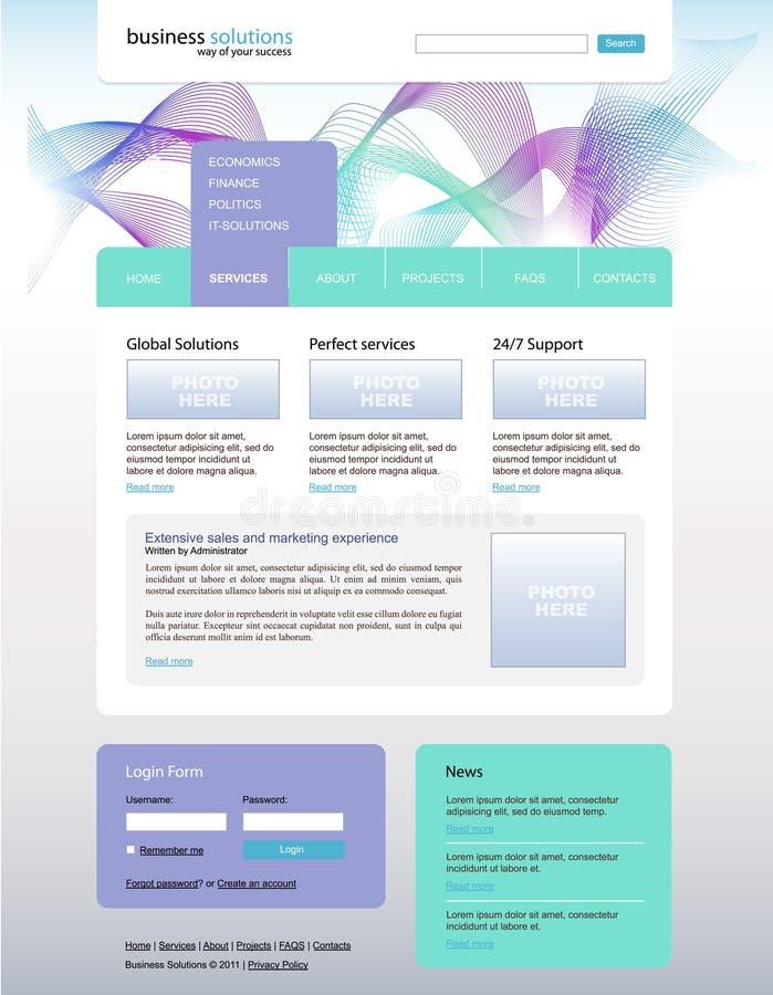 Download Vector Website Desing For Business Solution Stock Vector - Illustration: 21397713