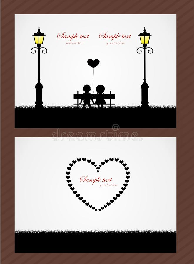 Vector wedding card or invitation with children vector illustration