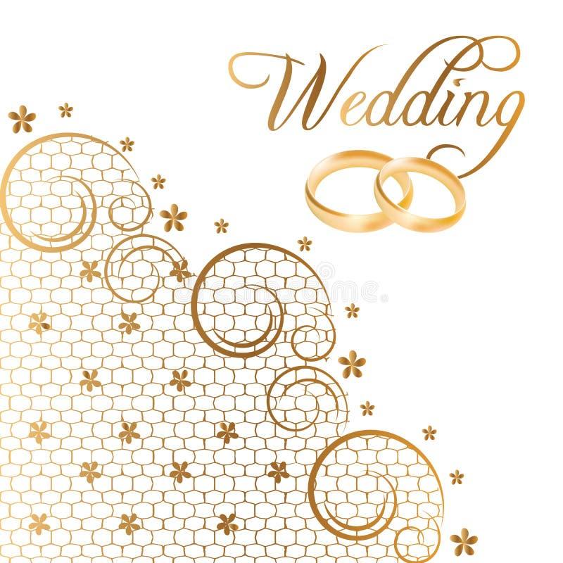 Vector Wedding Cards stock illustration