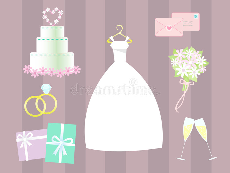 Vector wedding clip art royalty free stock photo