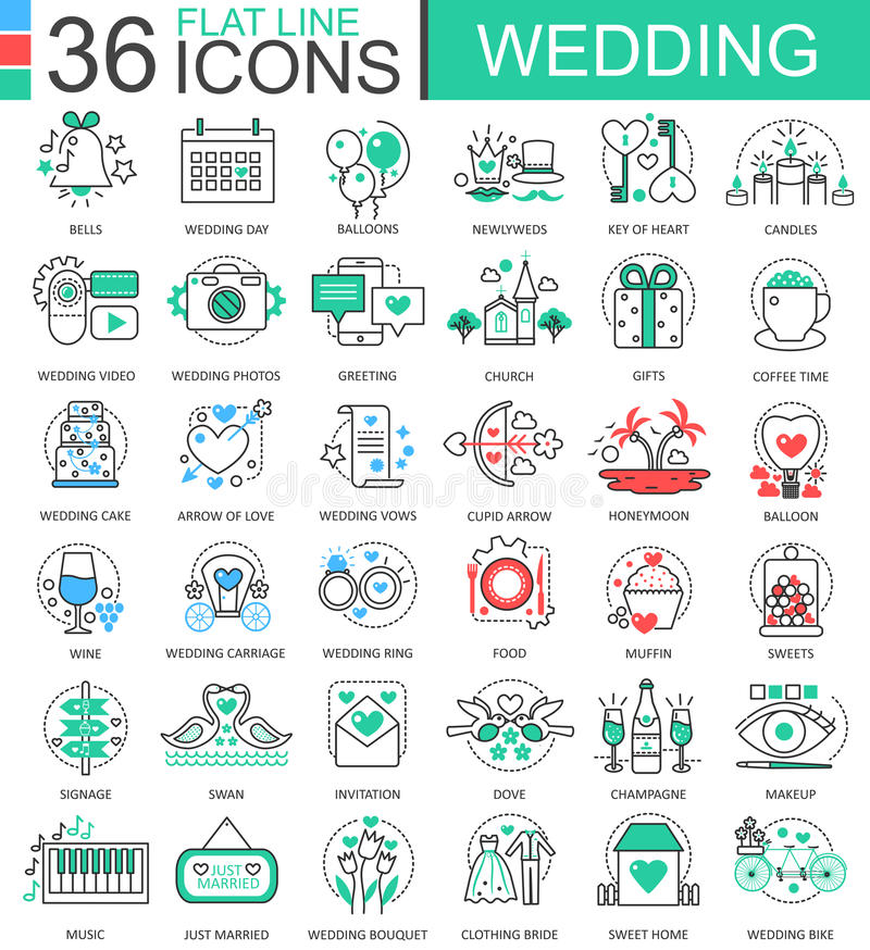 Vector wedding flat line outline icons for apps and web design download vector wedding flat line outline icons for apps and web design wedding icon junglespirit Image collections