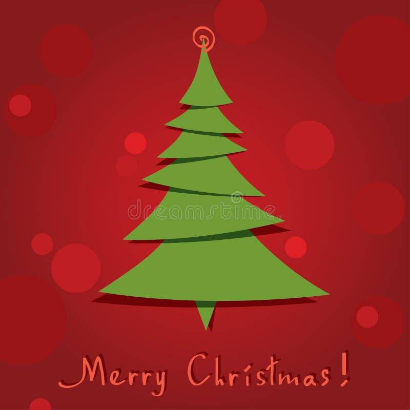 vector Weihnachtsbaum lizenzfreie abbildung