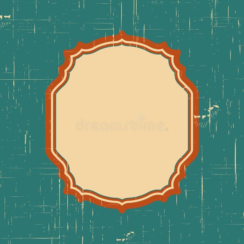 Vector Weinlesegrenzrahmen mit Retro- Verzierungsmuster im dekorativen Design der antiken Art Alte Modebeschaffenheit Gestreifter vektor abbildung