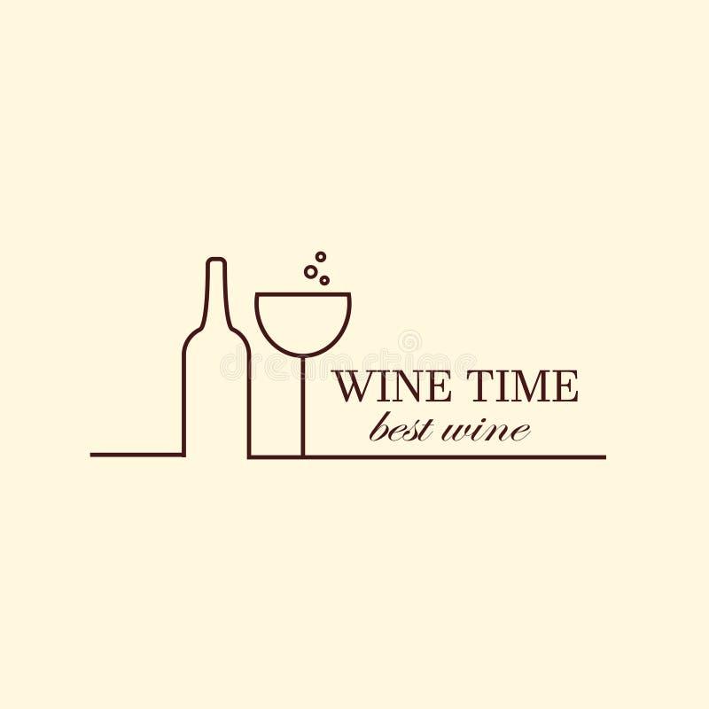 Vector Weinrebe- Und Weinflaschen, Logodesignschablone Vektor ...