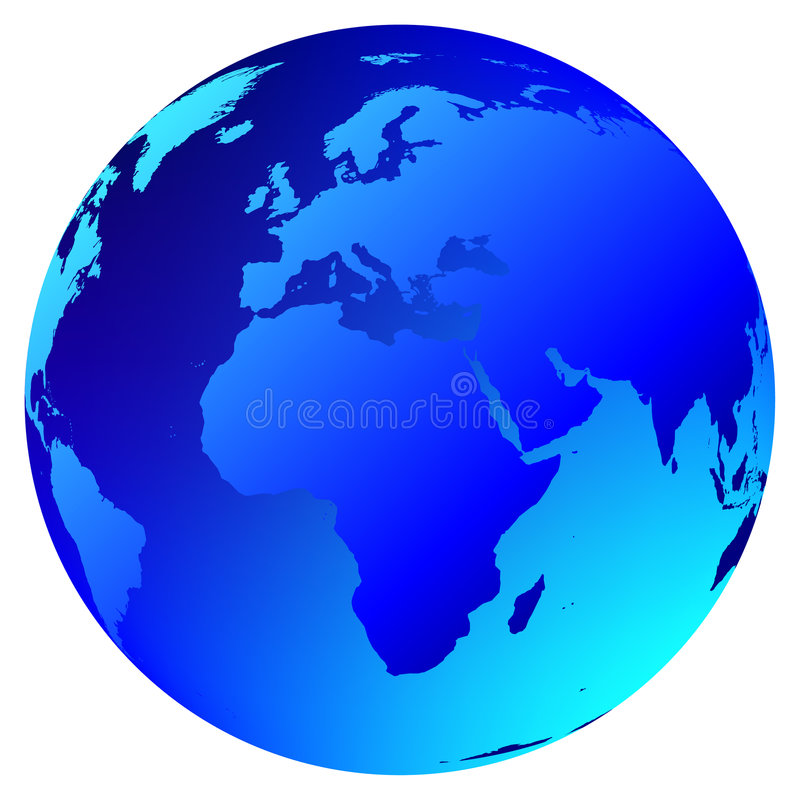 Vector wereldbol royalty-vrije illustratie