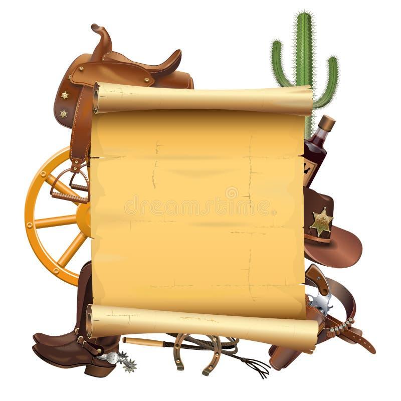 Vector Westelijke Rol stock illustratie