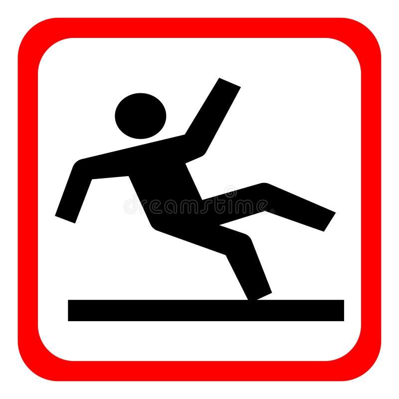 Vector Wet Floor Warning Sign royalty free illustration