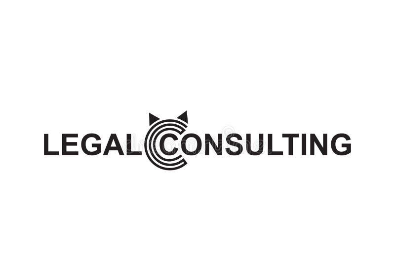 Vector - wettelijk het raadplegen van Copyright modern die embleem, op witte achtergrond wordt geïsoleerd Vector illustratie vector illustratie