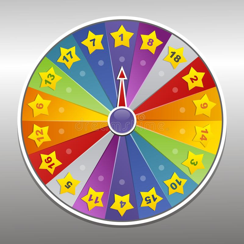 Free Vector Wheel Of Fortune Stock Photography - 19940032