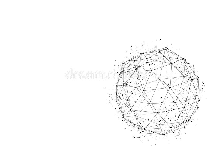 Vector white background abstract technology communication data S royalty free illustration