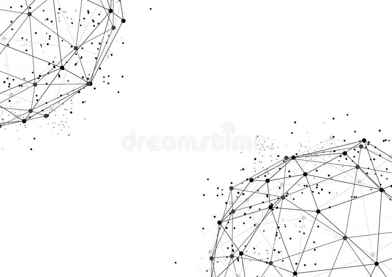 Vector white background abstract technology communication data S stock illustration