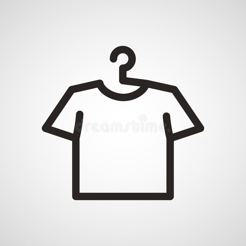 Vector white blank tshirt icon symbol stock images