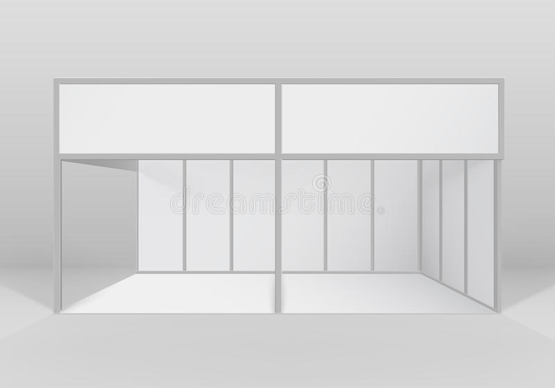Exhibition Booth Blank : Vector white indoor trade exhibition booth standard stand