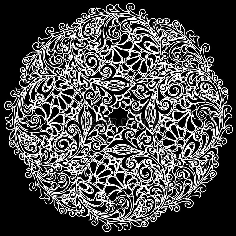 Vector white lace vector illustration