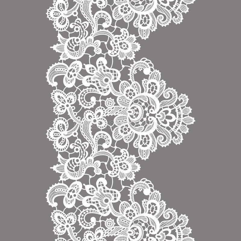 Free Vector White Lace Border. Seamless Pattern. Stock Image - 66669421
