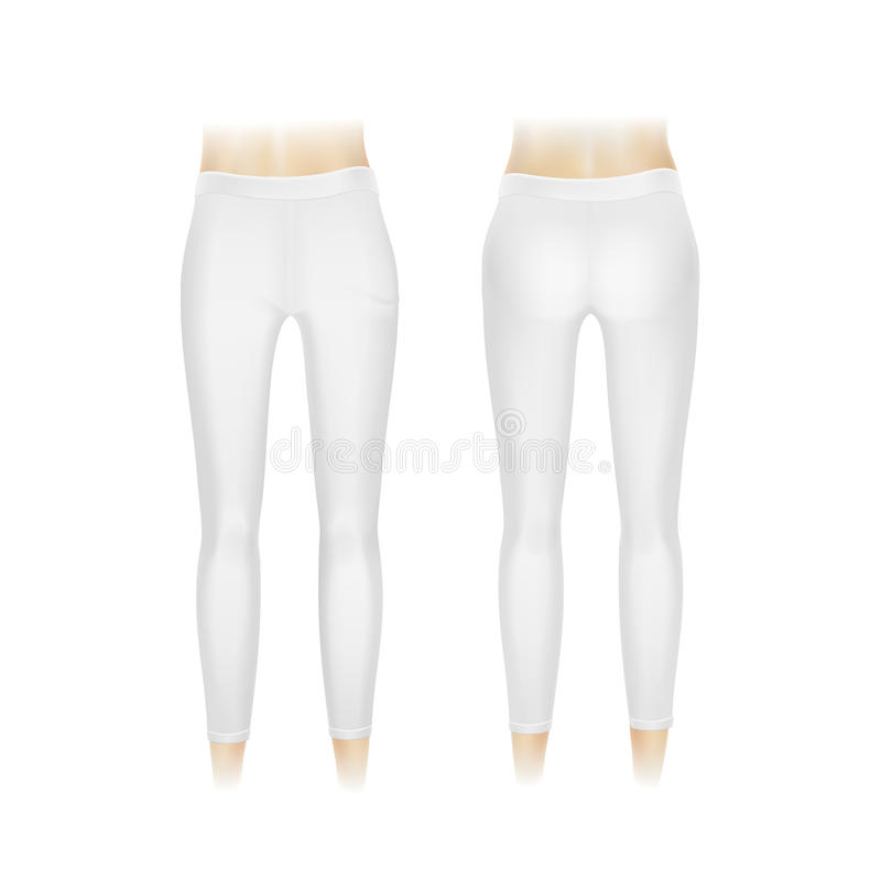 Free Vector White Leggings Pants Isolated Royalty Free Stock Photos - 50147858