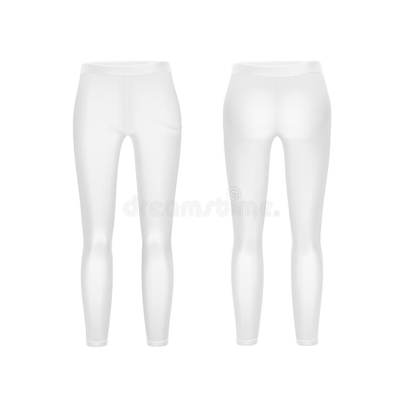 Free Vector White Leggings Pants Isolated On Background Stock Photo - 49980060