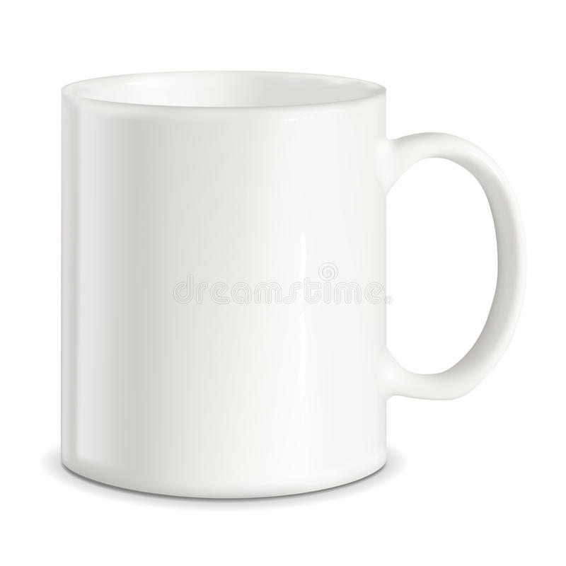 Vector white mug vector illustration