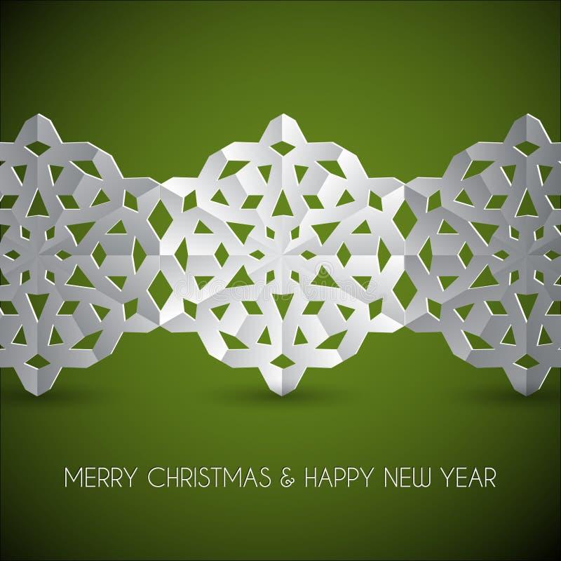 Vector white paper christmas snowflakes stock photos