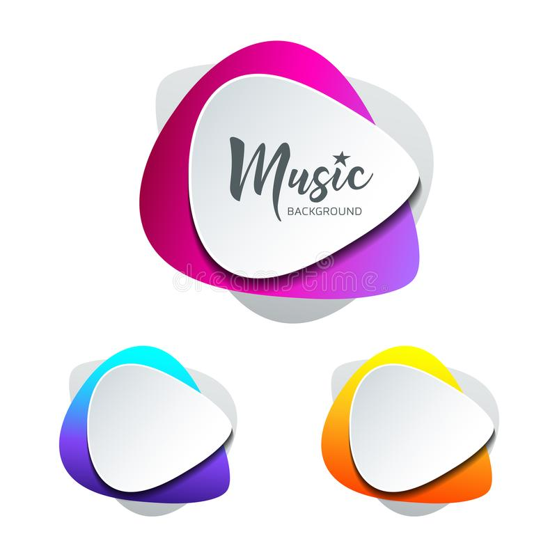 Free Vector White Paper Shape Guitar Pick Colorful Background Stock Image - 116960661