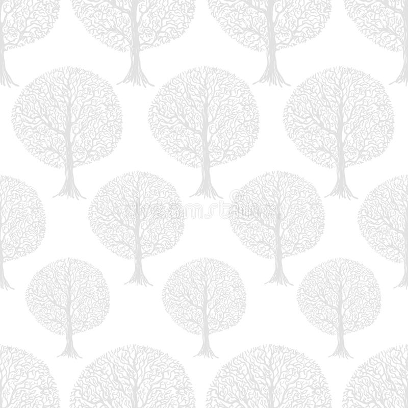 Vector white seamless pattern stock illustration