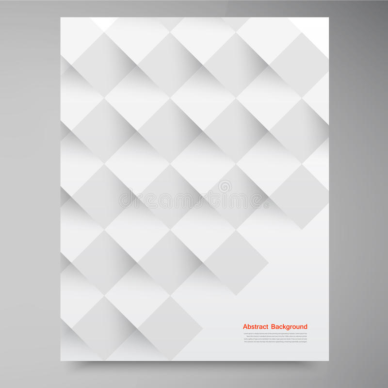 Vector white squares. Abstract backround stock illustration