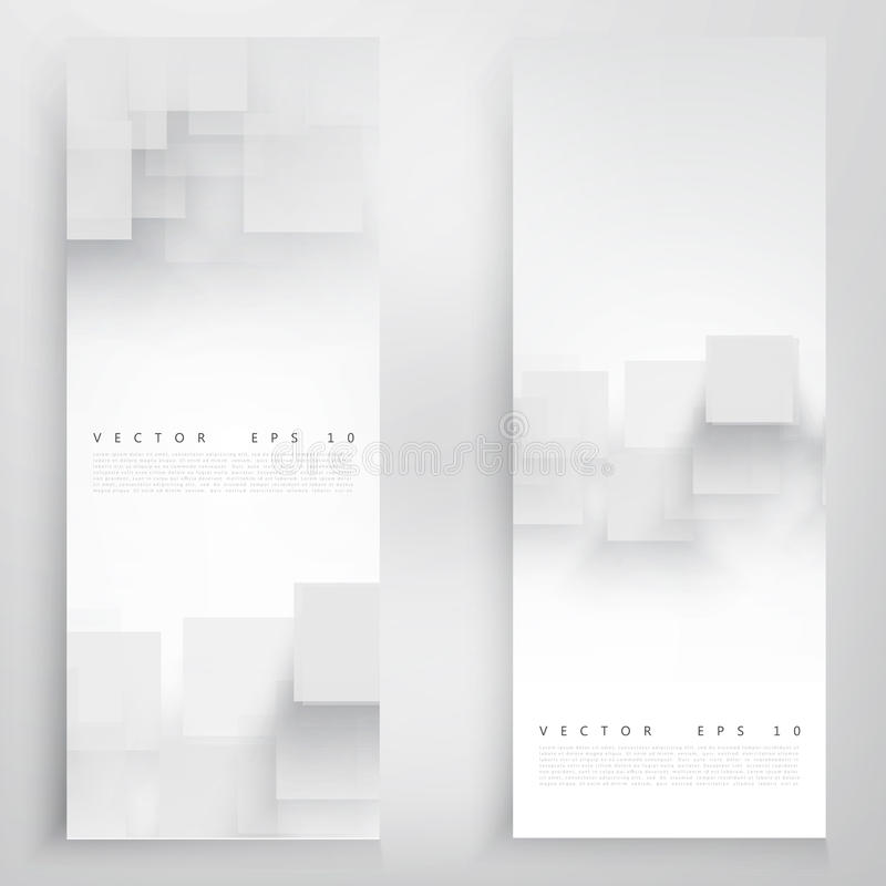 Vector white squares. royalty free illustration