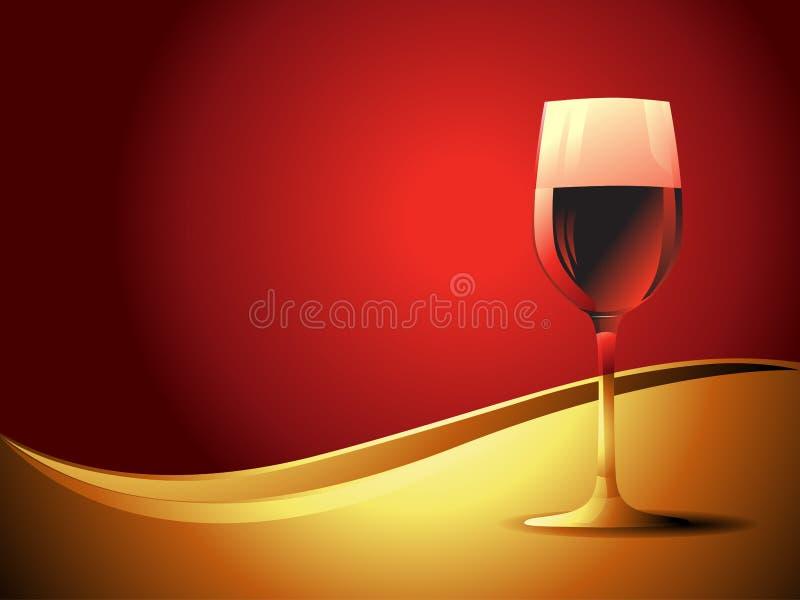 Vector wijnglas royalty-vrije illustratie