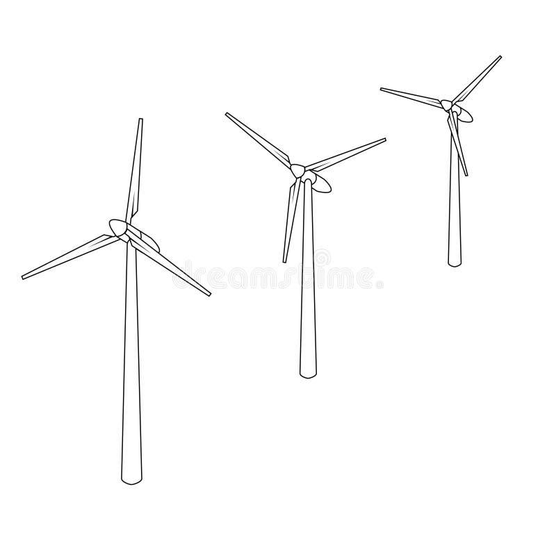 Vector Windmühle lizenzfreie abbildung