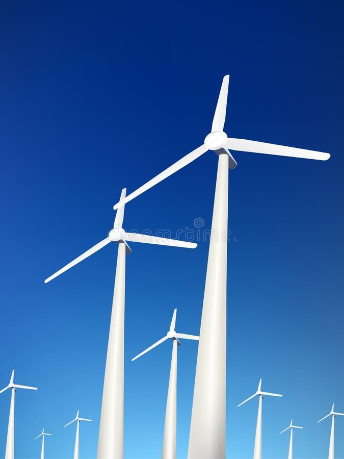 Download Vector windturbines vector illustratie. Illustratie bestaande uit energie - 10775215