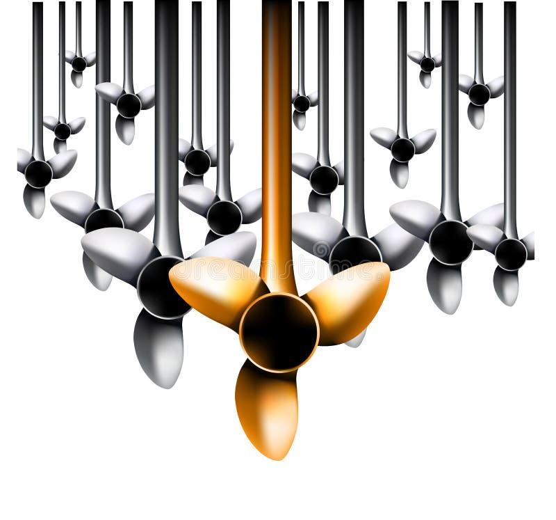 Download Vector windturbines vector illustratie. Illustratie bestaande uit adjusting - 10775433