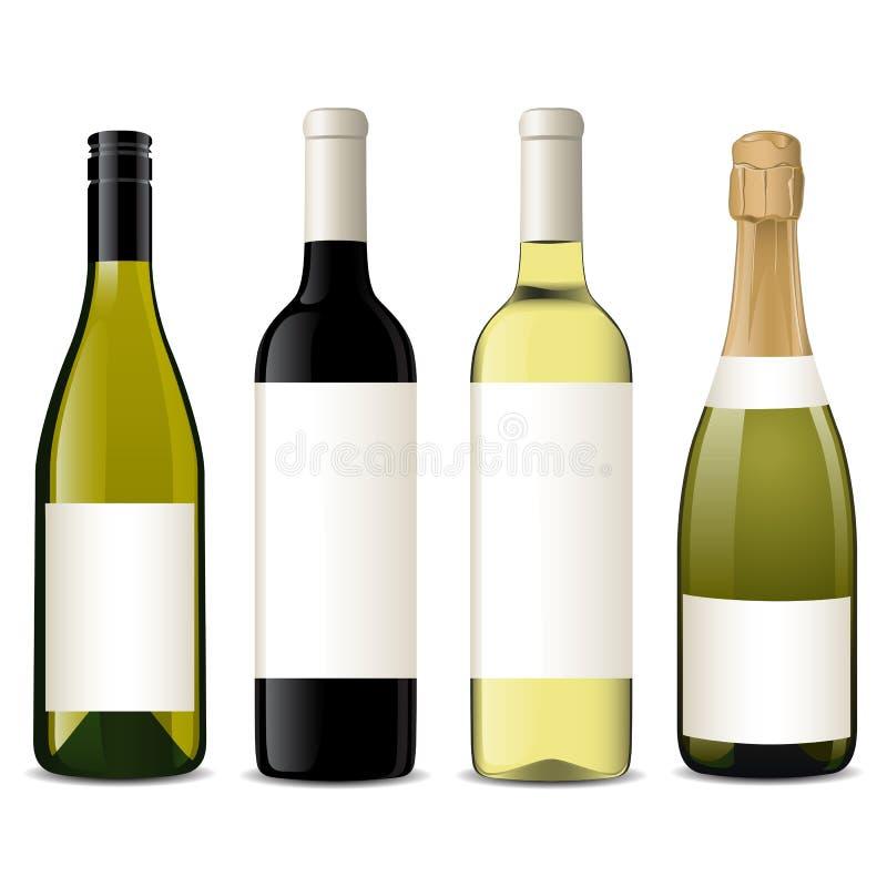 Vector wine bottles stock illustration