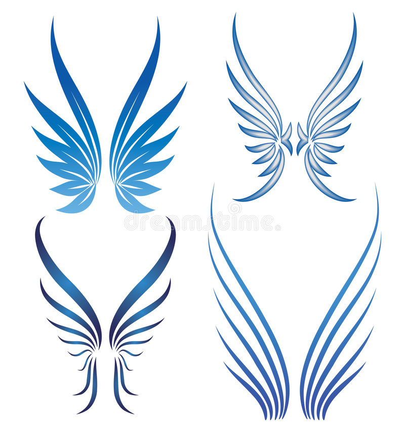 Download Vector wings stock vector. Illustration of variation, decor - 5202452
