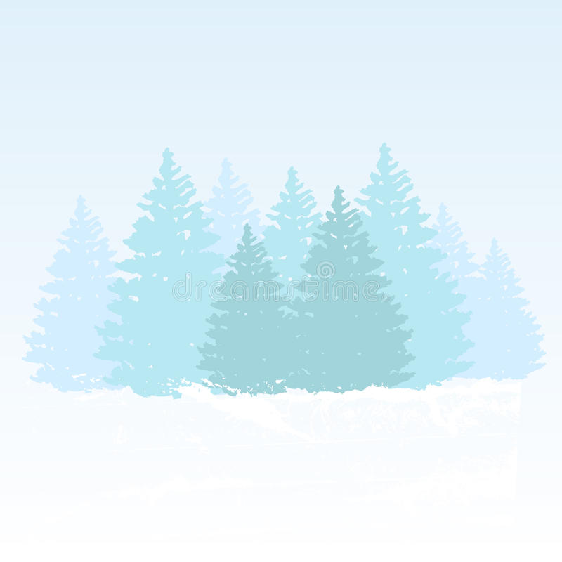 Vector winter background vector illustration
