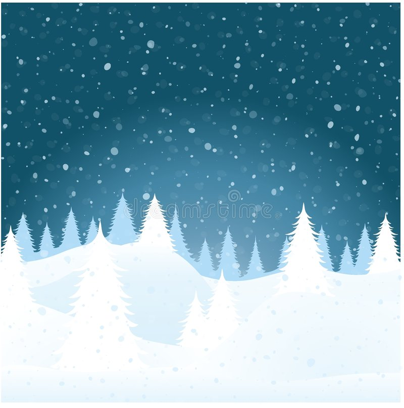 Download Vector Winter Landscape Royalty Free Stock Image - Image: 7320656