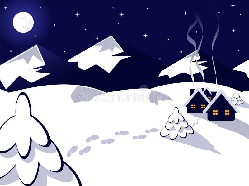 Vector winter landscape stock illustration