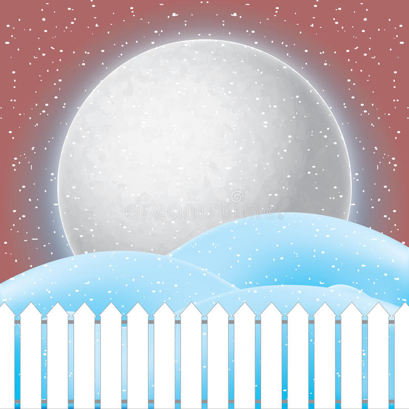 Vector of winter scene, white snow and blue sky. Vector vector illustration