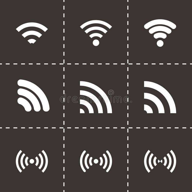 Vector wireless icon set stock illustration