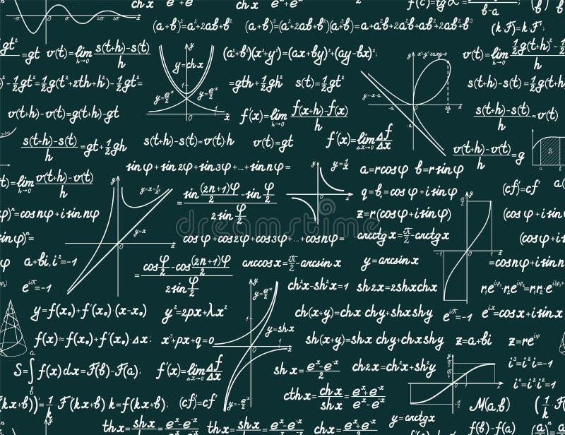 Vector wiskundig naadloos patroon royalty-vrije illustratie
