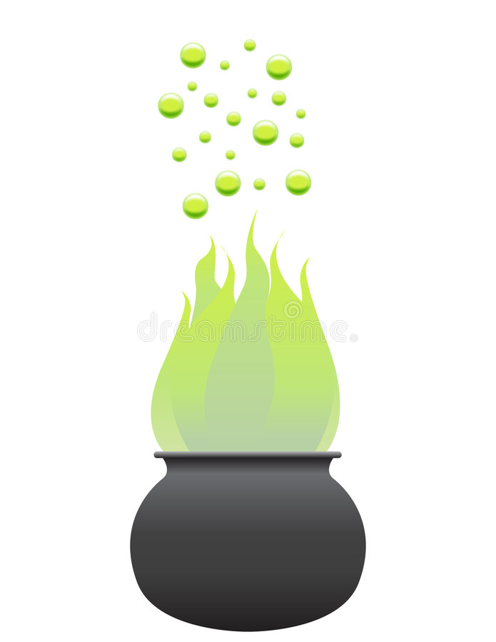 Download Vector Witch's Cauldron stock vector. Image of liquid - 6535675