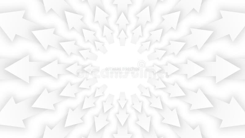 Vector Witte 3D Pijlen vector illustratie