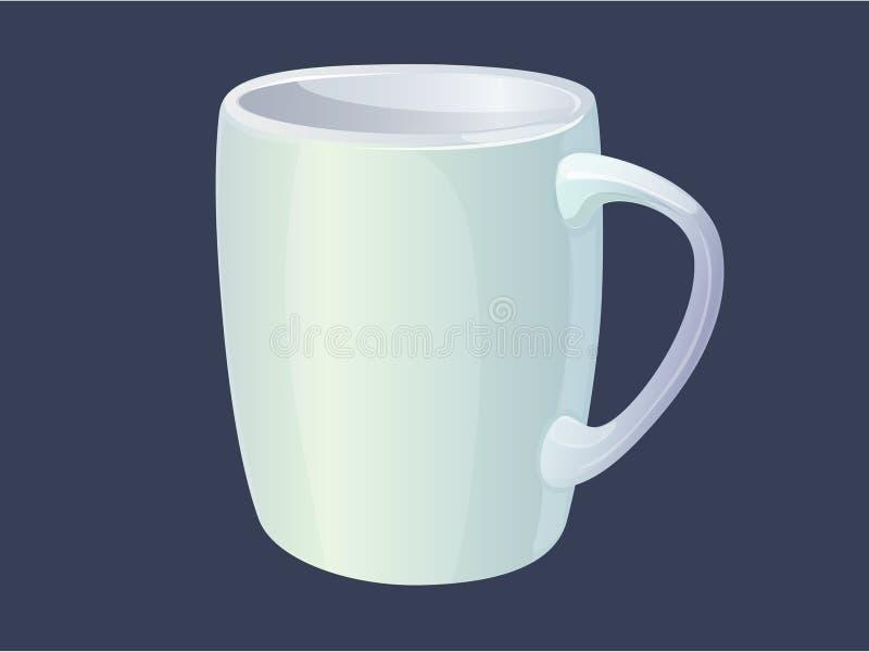 Vector witte Mok stock illustratie