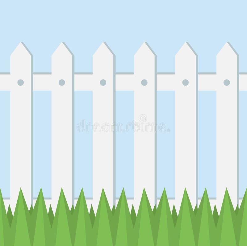 Vector witte omheining vector illustratie