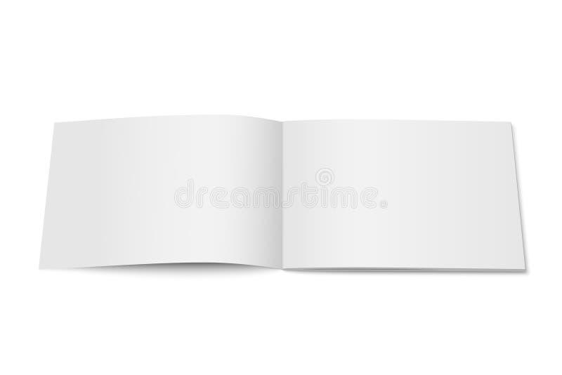 Vector witte spot omhoog van geïsoleerd tijdschrift vector illustratie