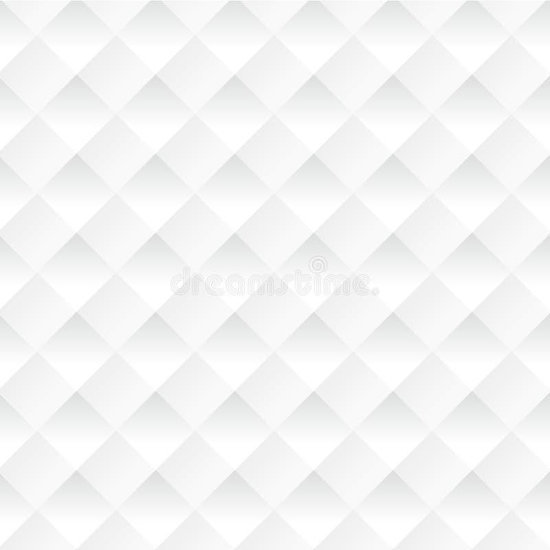 Vector witte vierkanten abstracte achtergrond stock illustratie