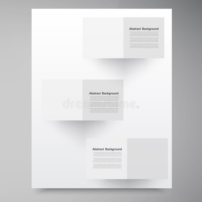 Vector witte vierkanten. Samenvatting backround vector illustratie