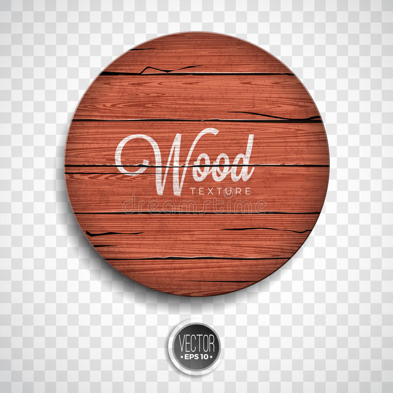 Vector wood texture background design. Natural dark vintage wooden illustration with old style board on transparency background stock illustration