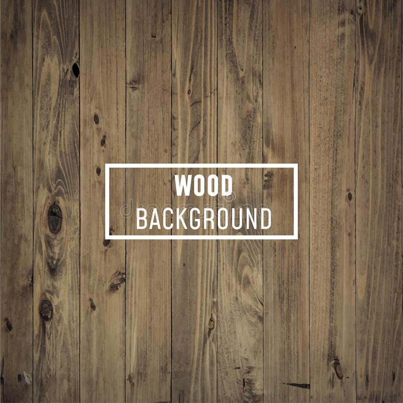 Vector wood texture background old panels. stock illustration